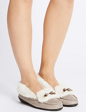 Fur Moccasin Slippers