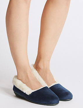 Fur Ballerina Slippers