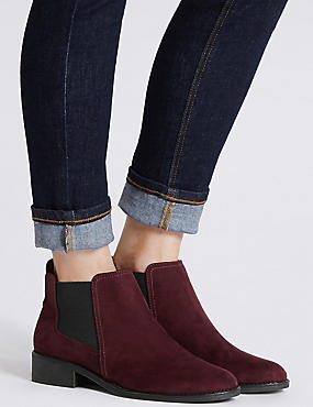Chelsea Ankle Boots, BERRY, catlanding