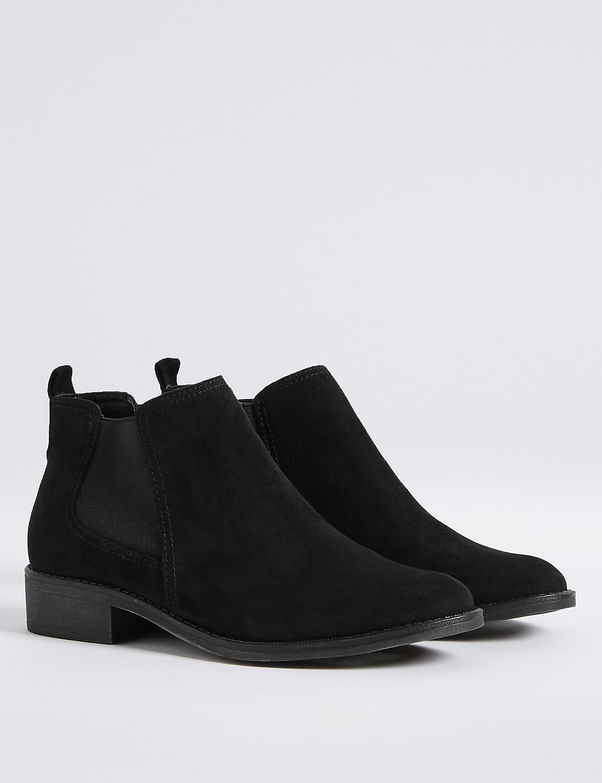 Women's Dark Grey Ankle Boots Boots Boots Mid Wedged Wide Fit Chelsea For The Sole Mid Heel