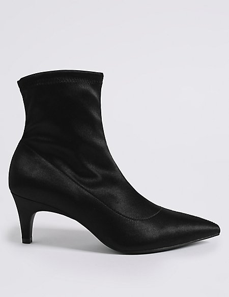 Kitten Heel Side Zip Ankle Boots | M&S Collection | M&S