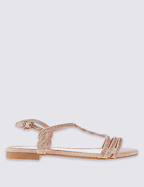 Sparkle Twisted Sandals with Insolia®