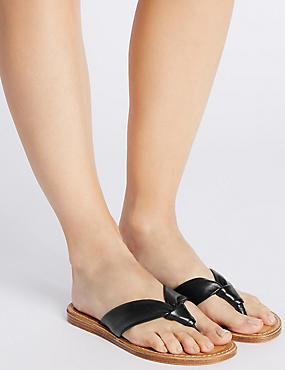Leather Tubular Toe Sandals