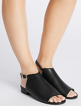 Block Heel High Vamp Sandals