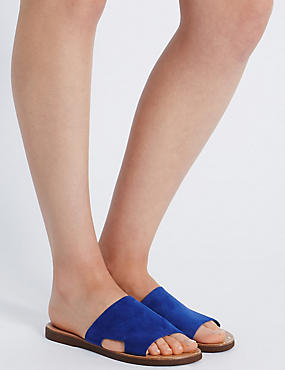 Leather Cut Out Mule Shoes