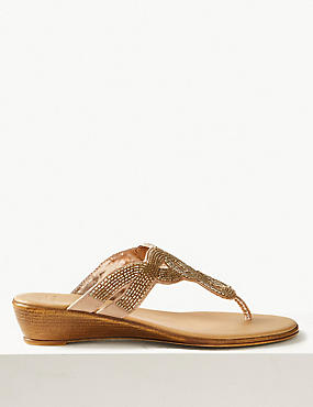 Bling Wedge Mule Sandals, GOLD, catlanding