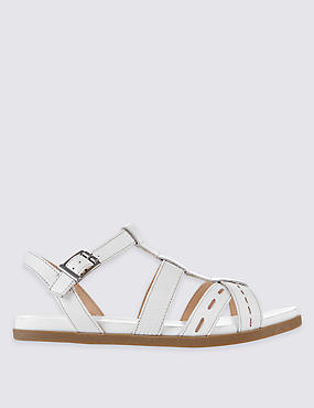 Leather Embossed Sandals