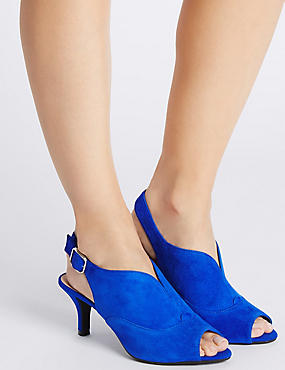Suede Stiletto High Vamp Sandals