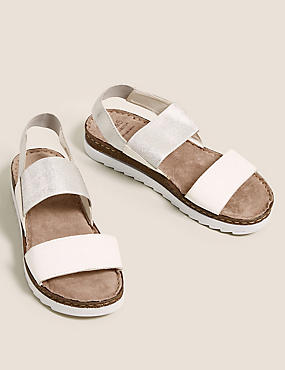 Leather Elastic Sandals