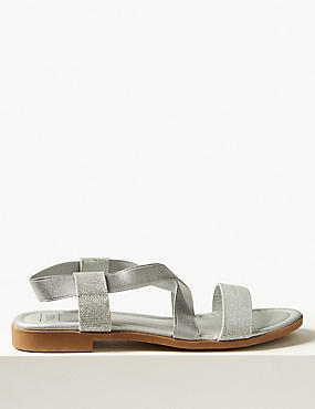 Elastic Sandals , METALLIC, catlanding