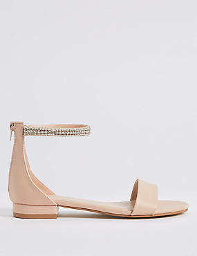 Jewel Ankle Strap Sandals