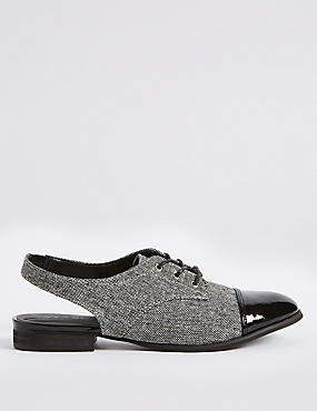 Block Heel Sling Back Brogue