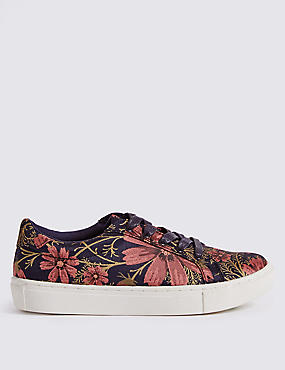 Floral Print Trainers