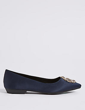 Jewel Trim Ballerina Pumps