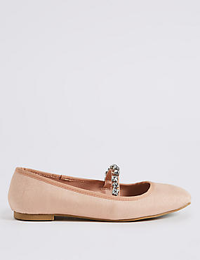 Jewel Strap Ballerina Pumps