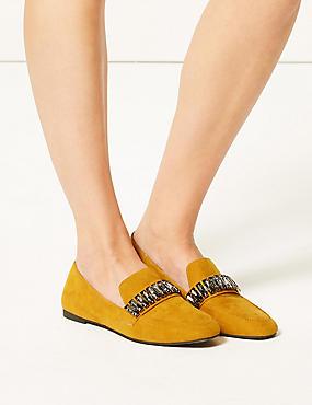 Square Toe Loafers, OCHRE, catlanding
