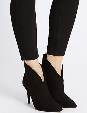 Stiletto Fold Over Ankle Boots