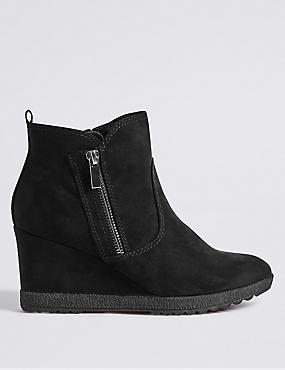Wedge Heel Ankle Boots