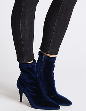 Stiletto Heel Side Zipped Ankle Boots