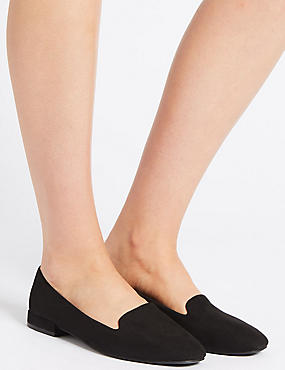 Slip-on Pumps, BLACK, catlanding