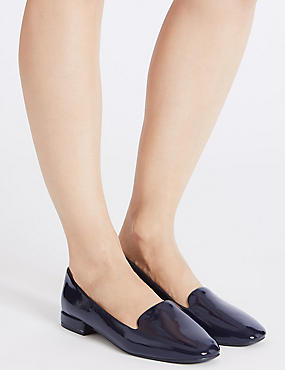 Slip-on Pump Shoes, NAVY, catlanding