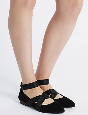 Wide Fit Suede Point Pump Shoes