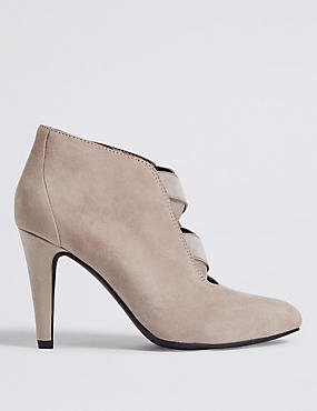 Wide Fit Suede Stiletto Heel Shoe Boots