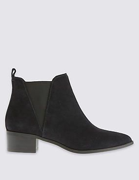 Stain Away™ Wide Fit Suede Ankle Boots with Insolia®