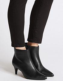 Wide Fit Kitten Ankle Boots