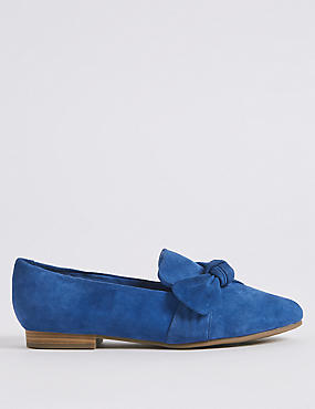 Wide Fit Suede Knot Pumps