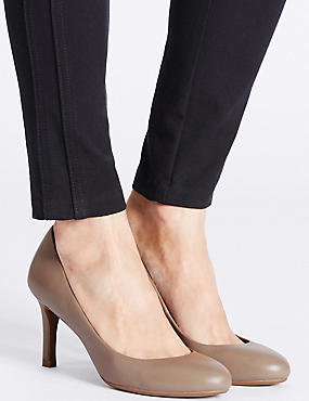 Leather Stiletto Court Shoes