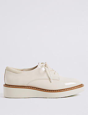 Leather Flatform Brogue Shoes