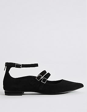 Suede Strap Pump Shoes