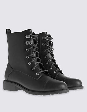 Lace Up Work Ankle Boots with Insolia Flex®