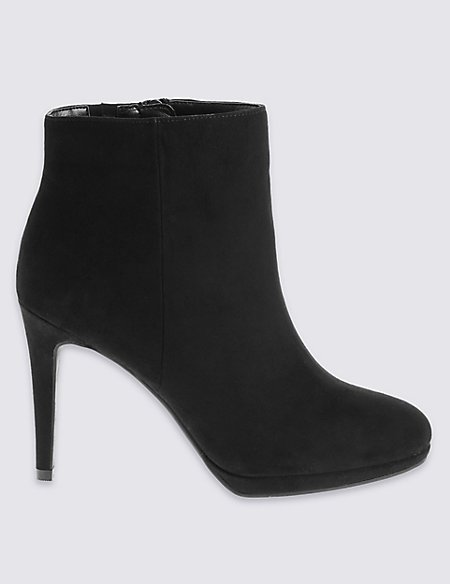 Wide Fit Stiletto Ankle Boots