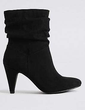 Wide Fit Side Zip Mid-calf Boots