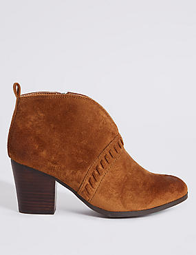 Extra Wide Fit Block Heel Ankle Boots