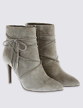 Tie Detail Ankle Boots with Insolia®