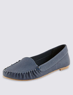 Faux Snakeskin Print Loafers with Insolia Flex®