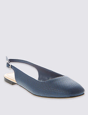 Square Toe Slingback Court Shoes with Insolia Flex®