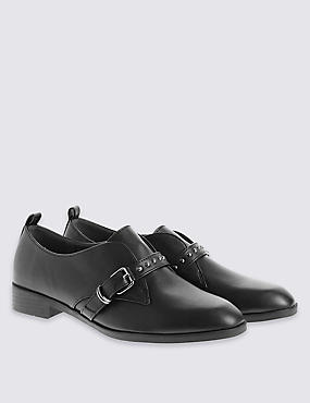 Stud Strap Monk Brogue Shoes with with Insolia Flex®