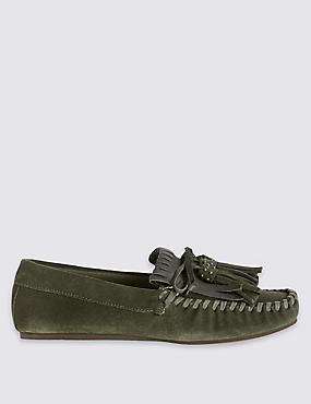 Suede Fringe Loafers with Insolia Flex®
