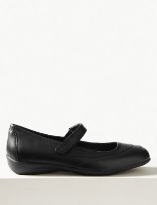 Leather Cut Out Dolly Pump Shoes by Marks & Spencer