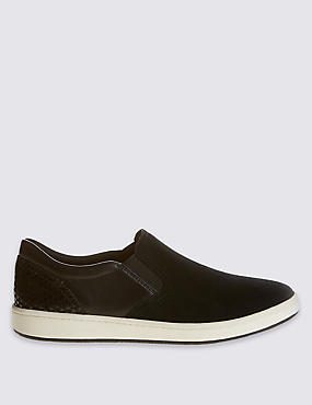 Suede Slab Sole Trainers