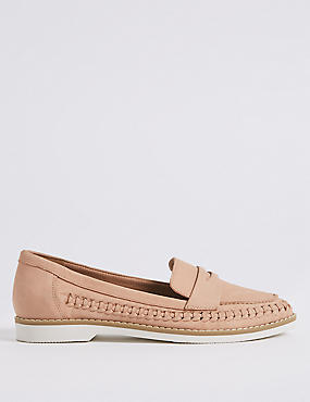 Leather Side Detail Loafers