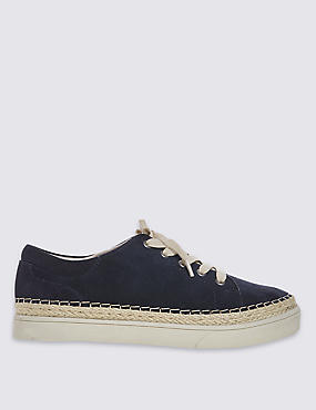 Wide Fit Suede Trainers