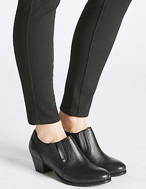 Wide Fit Block Heel Chelsea Shoe Boots