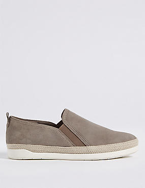 Wide Fit Suede Rope Detail Trainers
