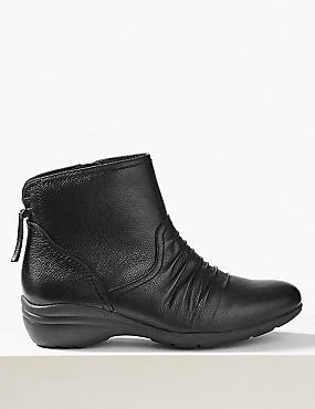 Tassel Ruched Ankle Boots