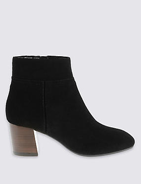 Stain Away™ Suede Clean Ankle Boots with Footglove™